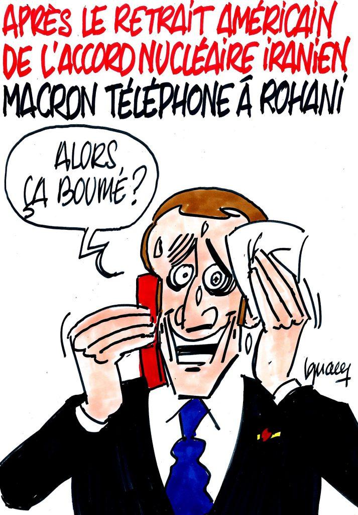 Ignace - Macron téléphone à Rohani