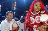 """Danse afrobeat d'Emmanuel Macron pour lancer la """"saison des cultures africaines en France"""""""
