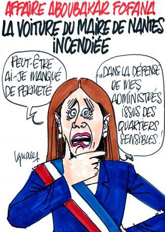 Ignace - Voiture du maire de Nantes incendiée