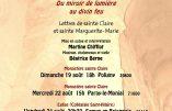 Festival de Bourgogne du Sud 2018 – Lettres de sainte Claire et sainte Marguerite-Marie