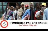 Africains, n'immigrez pas en Europe ! Encore un exemple de passeurs fournissant des réseaux d'esclaves