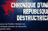 Chronique d'une république destructrice