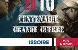 Centenaire de la Grande Guerre à Issoire du 9 au 11 novembre 2018