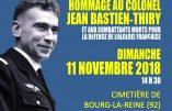 11 novembre 2018 – Hommage au Colonel Bastien-Thiry