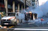 Révolte des Gilets Jaunes à Bruxelles : véhicules de police en feu
