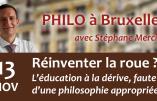 13 novembre 2018 à Bruxelles – Conférence de Stéphane Mercier