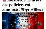 Manifestation des Gyros Bleus, policiers en colère, ce 20 décembre, et appel à fermer les commissariats mercredi