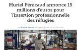 """Muriel Pénicaud préfère les """"réfugiés"""" aux Gilets Jaunes"""