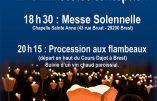 8 décembre 2018 – Procession aux flambeaux à Brest