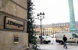 Actions de Gilets Jaunes devant les banques JP Morgan et Goldman Sachs à Paris