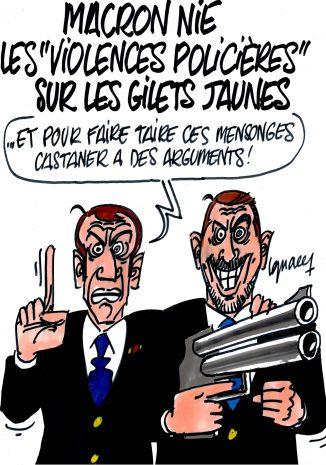 """Ignace - Macron nie les """"violences policières"""" sur les Gilets jaunes"""