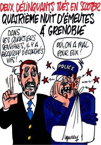 Ignace - Quatrième nuit d'émeutes à Grenoble