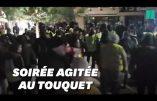 Gilets Jaunes devant la villa des Macron au Touquet