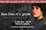"""13 juin 2019 – Projection du film """"Que Dieu m'y garde"""" au profit des Chrétiens d'Orient"""
