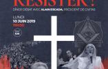 """10 juin 2019 à Paris – Dîner-débat """"Notre civilisation chrétienne assiégée de toutes parts : comment résister ?"""""""