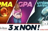 Civitas en campagne – Aujourd'hui la PMA, demain la GPA, après-demain l'utérus artificiel et le transhumanisme ? 3 x NON !