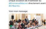 La Femen profanatrice antichrétienne Inna Shevchenko participait officiellement au G7 et s'est trouvée à la même table qu'Emmanuel Macron