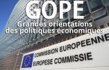 Les GOPÉ imposées par la Commission Européenne à la Belgique pour la période 2019-2020