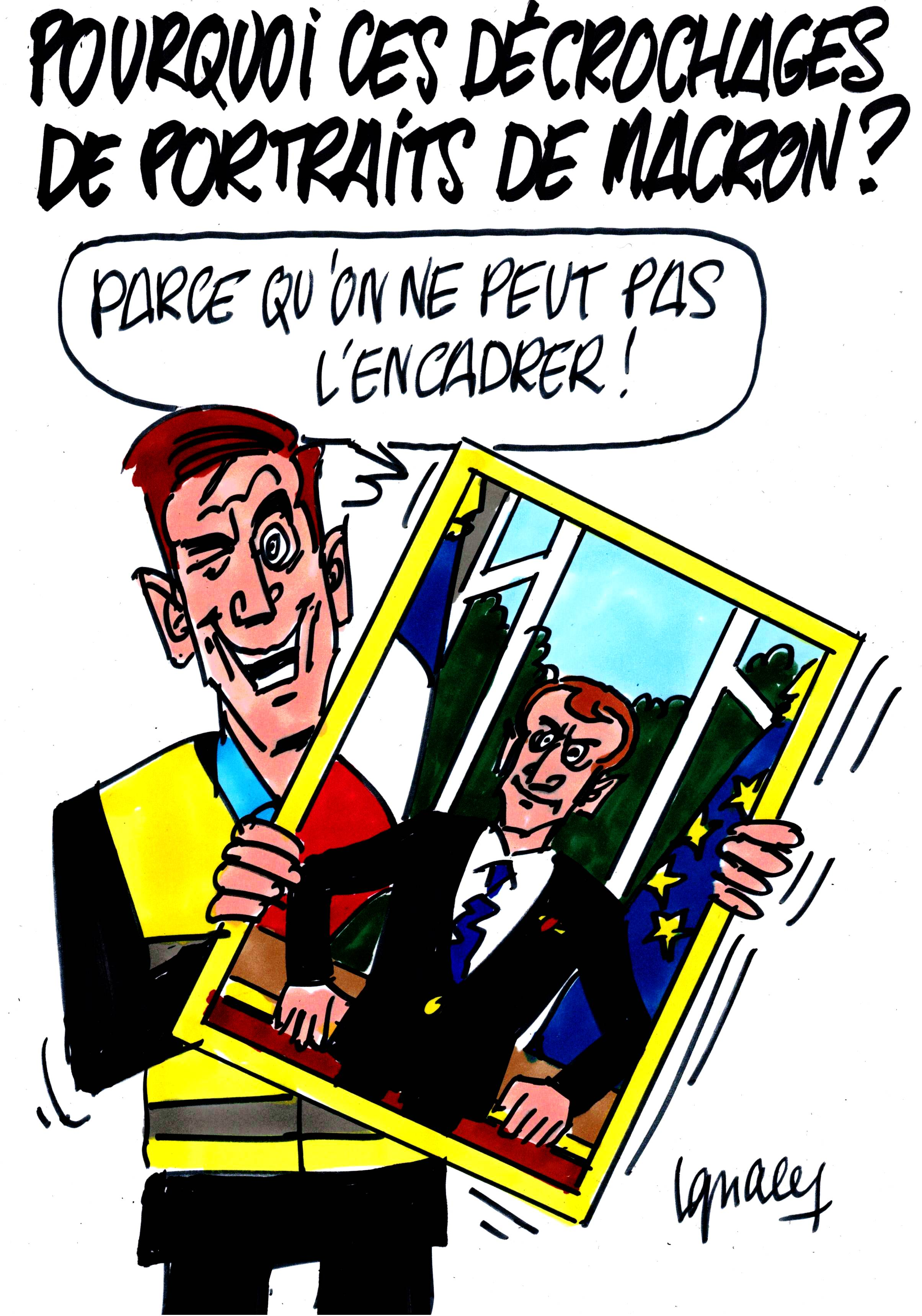 Pourquoi ces décrochages de portraits de Macron ?