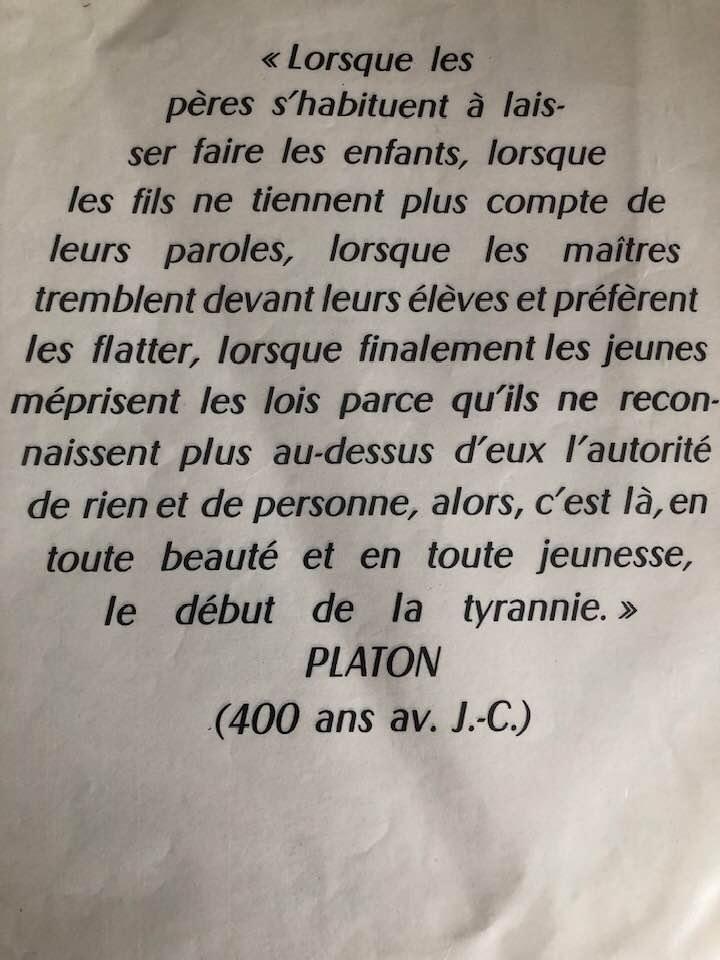 Le phénomène Greta Thumberg analysé par Platon, 400 av J.C.