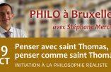 29 octobre 2019 à Bruxelles – Penser avec saint Thomas, penser comme saint Thomas