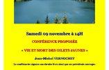 """9 novembre 2019 à Aix-les-Bains – Conférence """"Vie et mort des Gilets Jaunes"""" par Jean-Michel Vernochet"""