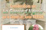 10 octobre 2019 à Marseille – Considérations sur la Guerre d'Algérie (conférence du Colonel Pierson)