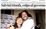 Triomphe pour Matteo Salvini qui écrase la coalition gouvernementale aux élections régionales de Ombrie
