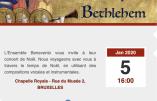 5 janvier 2020 à Bruxelles – Concert de Noël