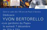 """7 décembre 2019 à Genève – Dédicace de la BD """"Les gardiens du pape"""""""