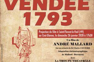 26 janvier 2020 à Saint-Florent-le-Vieil (49) – Projection de Vendée 1793