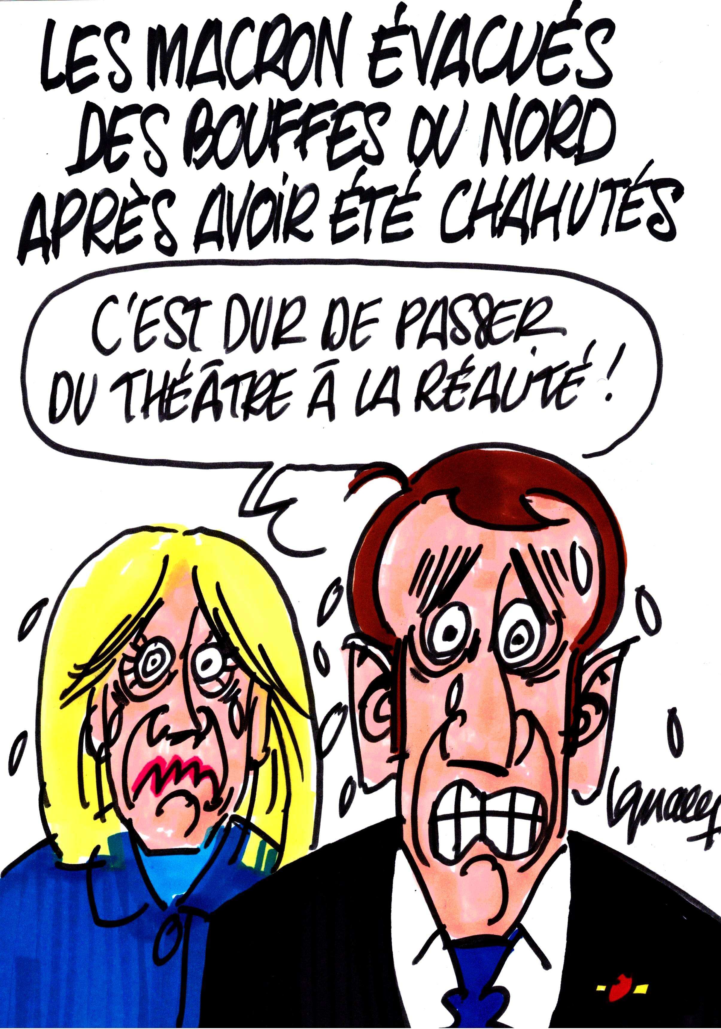 Ignace - Les Macron chahutés aux Bouffes du Nord