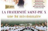 """21 mars 2020 – Colloque """"La Fraternité Saint-Pie X, une foi missionnaire"""""""