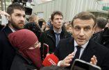 Macron et l'étrange musulmane voilée dévoilée