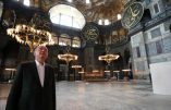 "This handout picture released by the Turkish Presidential press office shows Turkish President Tayyip Erdogan visiting Hagia Sophia monument in Istanbul, on July 19, 2020. - Turkey's Hagia Sophia will open to visitors outside prayer times and its Christian icons will remain, religious officials said on July 14, 2020 after a court ruling paved the way for it to become a mosque. Hagia Sophia was a cathedral for nearly 1,000 years before being converted into a mosque in 1453 and a museum in 1935. (Photo by Handout / TURKISH PRESIDENTIAL PRESS SERVICE / AFP) / RESTRICTED TO EDITORIAL USE - MANDATORY CREDIT ""AFP PHOTO / HO / TURKISH PRESIDENTIAL PRESS OFFICE"" - NO MARKETING - NO ADVERTISING CAMPAIGNS - DISTRIBUTED AS A SERVICE TO CLIENTS"
