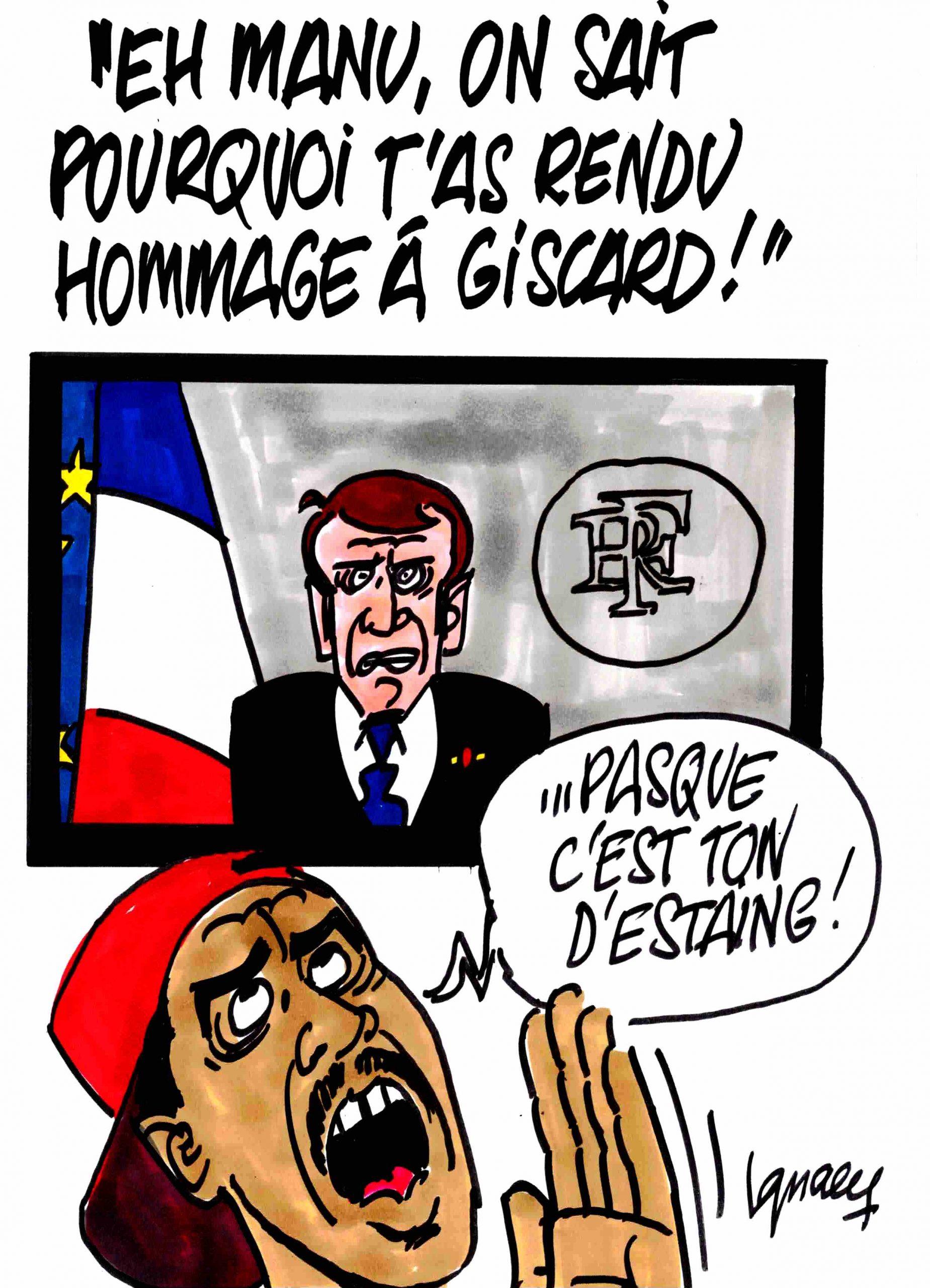 "Ignace - ""Eh, Manu, on c'est pourquoi tu rends hommage à Giscard !"""
