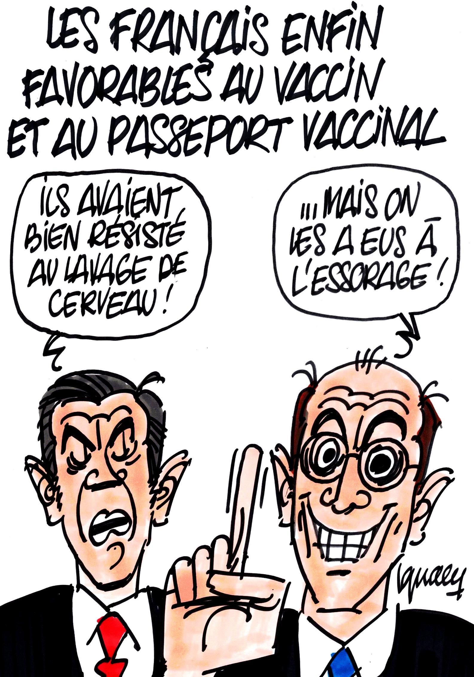 Ignace - Les Français valident le vaccin et le passeport vaccinal