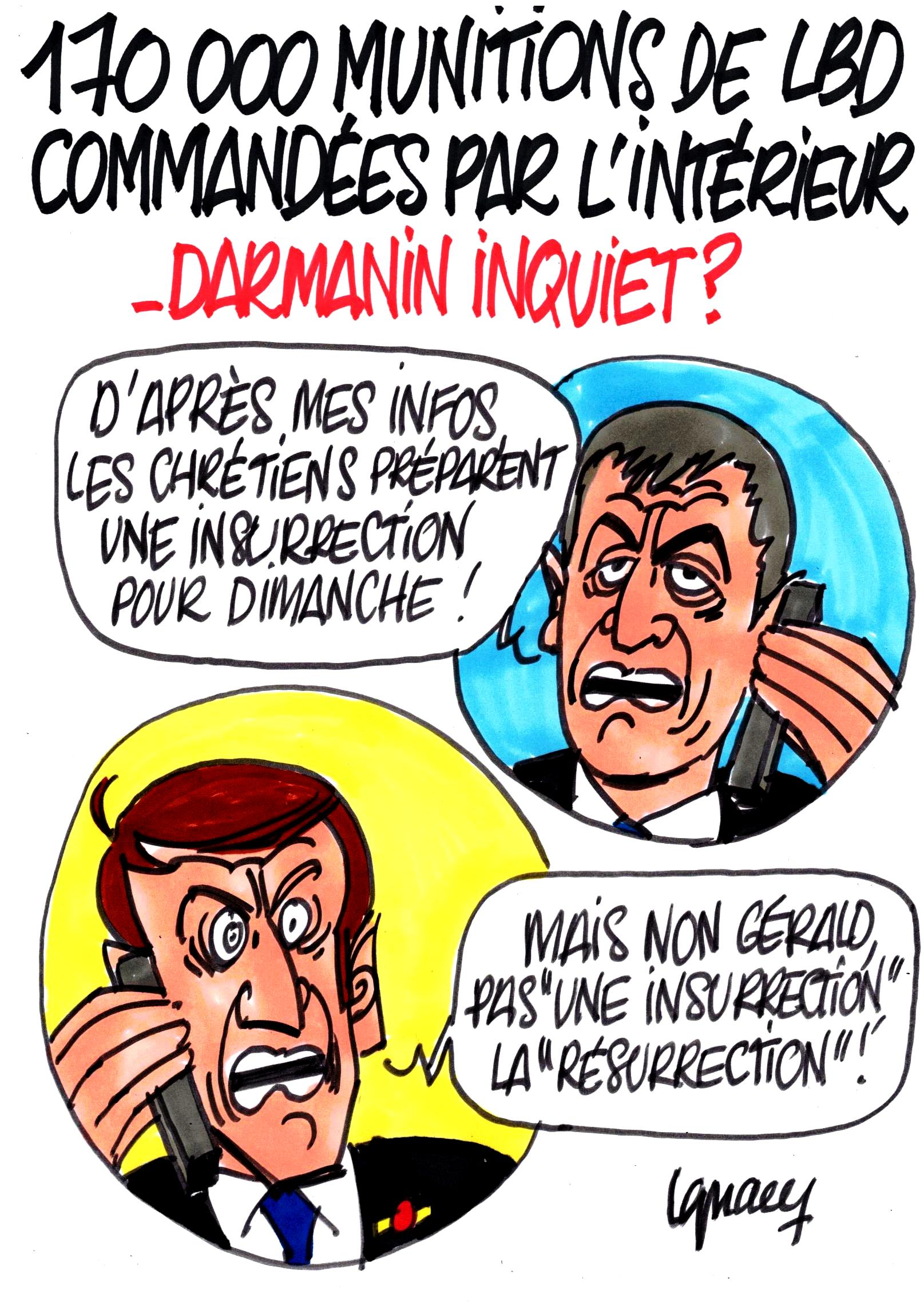 Ignace - 170000 munitions de LBD commandées par Darmanin