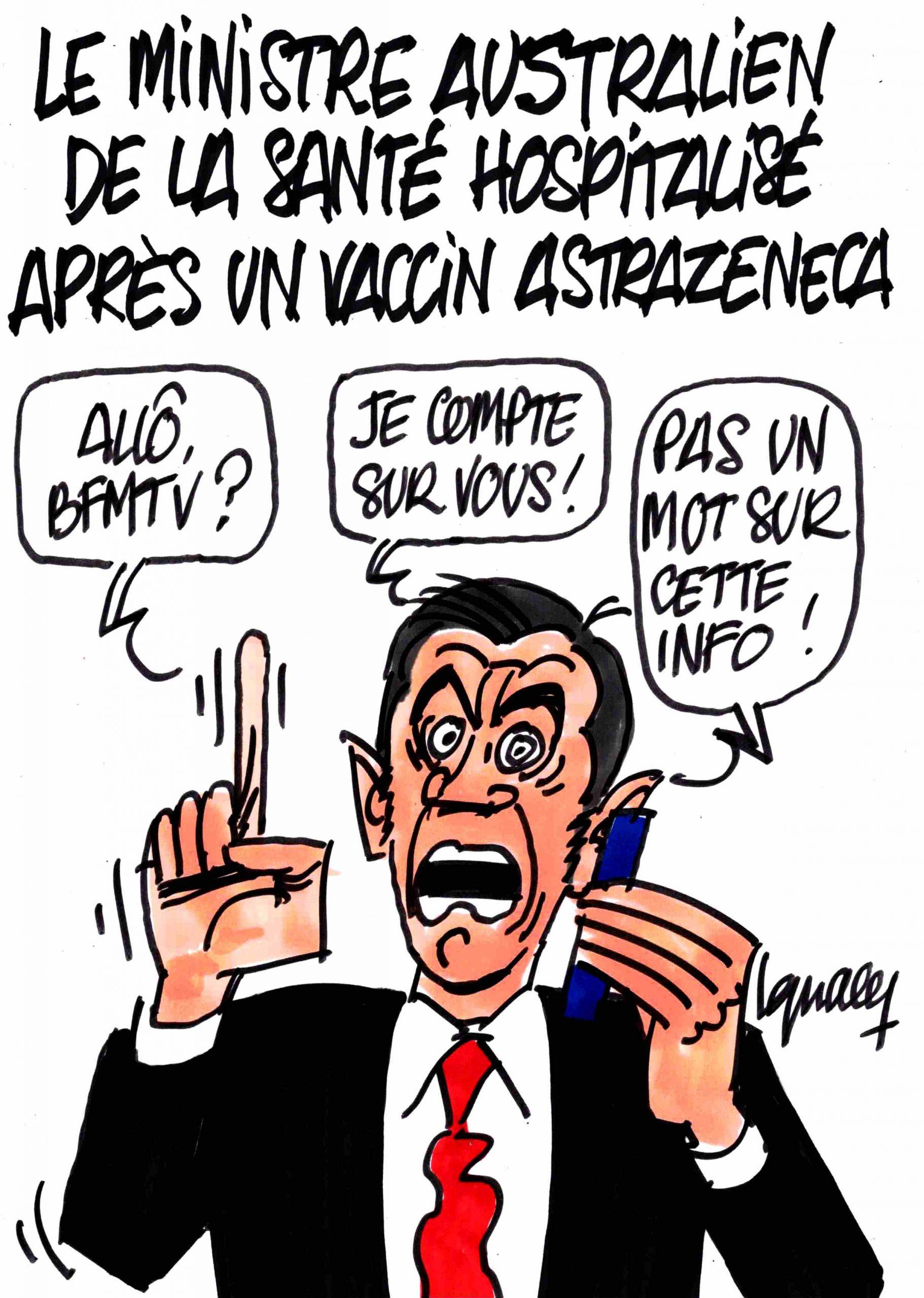 Ignace - Le ministre de la santé d'Australie vacciné à l'AstraZeneca