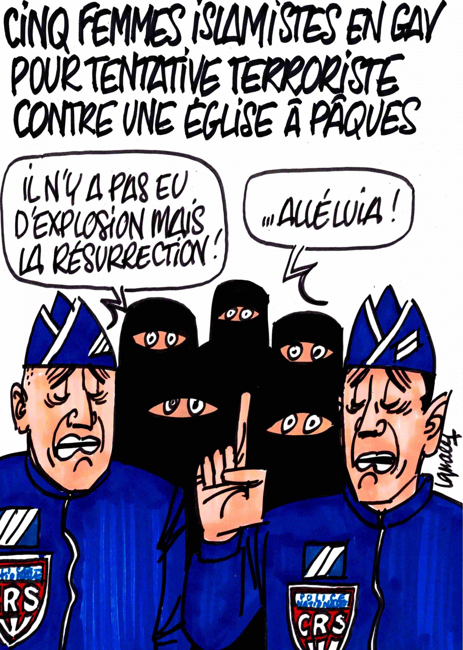 Ignace - Femmes islamistes en garde à vue