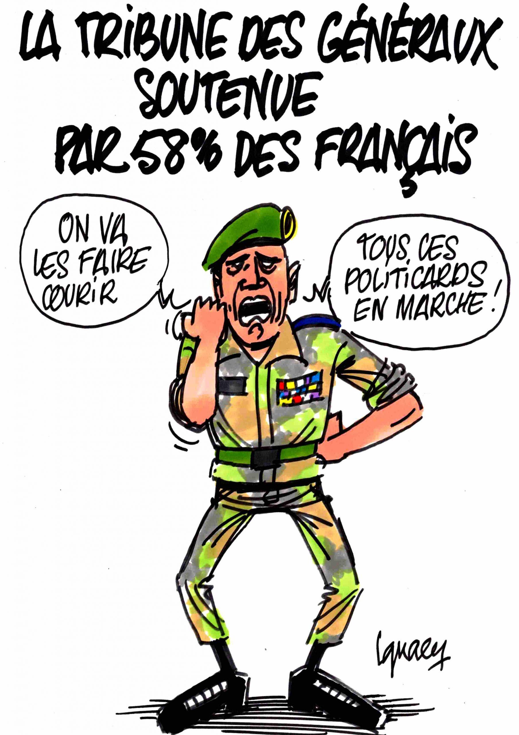 Ignace - La tribune des généraux soutenue par l'opinion