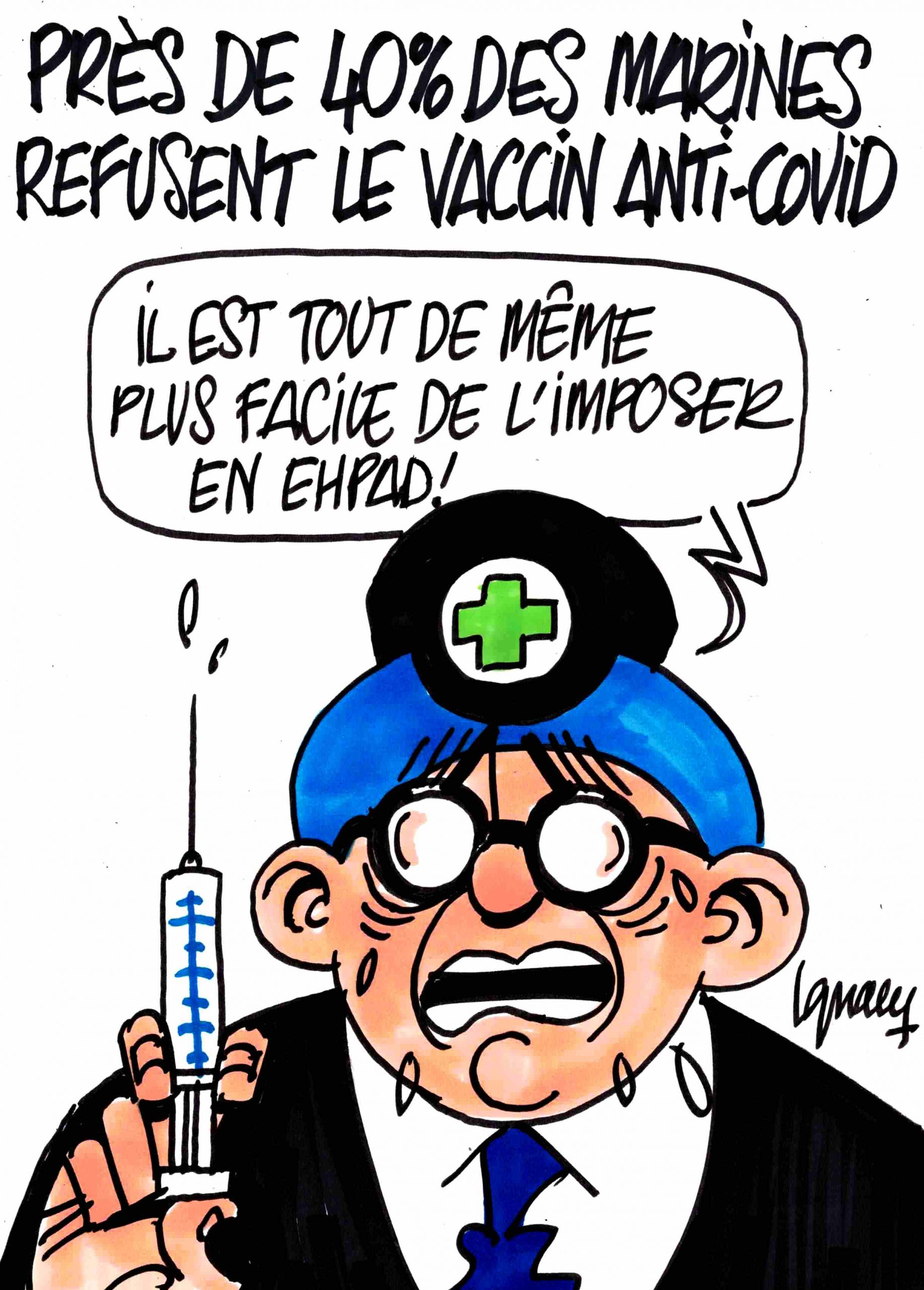 Ignace - Près de 40% des marines refusent le vaccin anti-covid