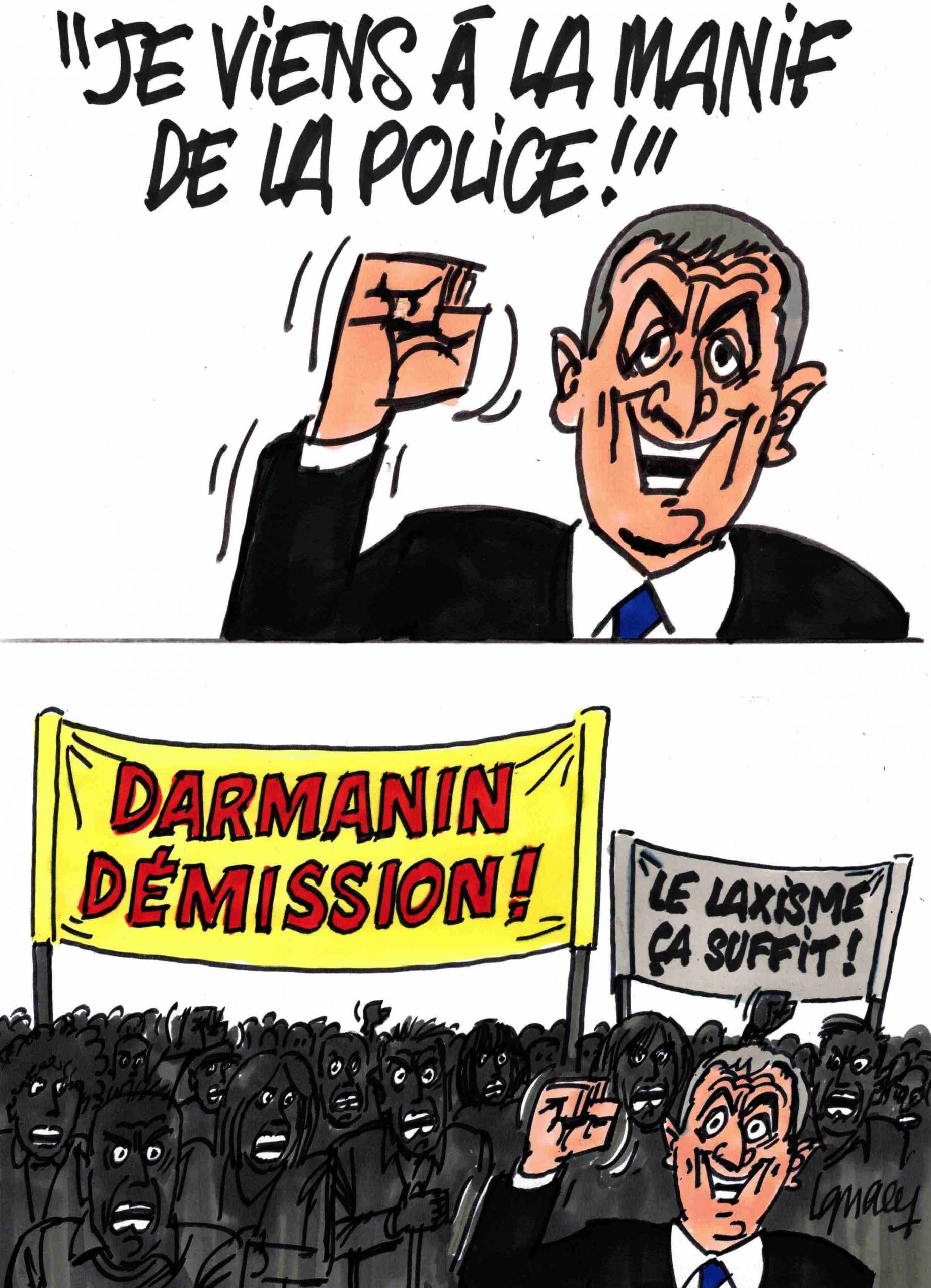 Ignace - Darmanin vient à la manif de la police