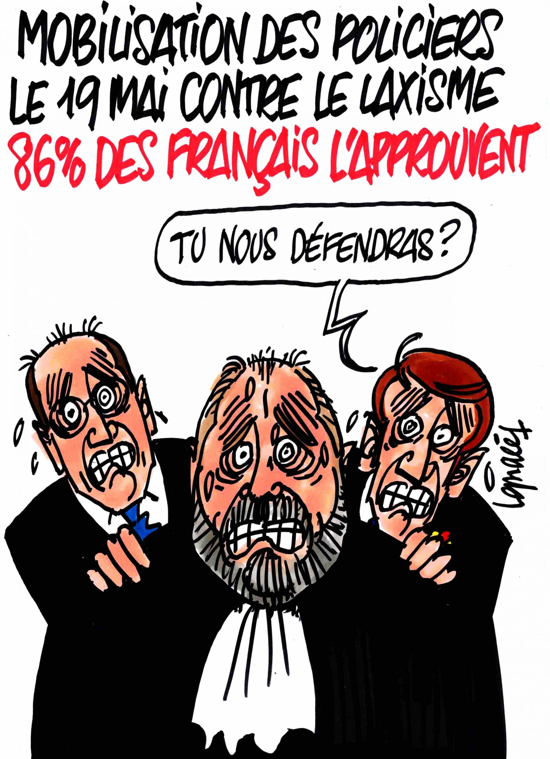 Ignace - Les Français soutiennent la police