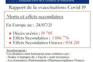 """Morts et effets secondaires après """"vaccination"""" anti-Covid : vérifiez par vous-même !"""