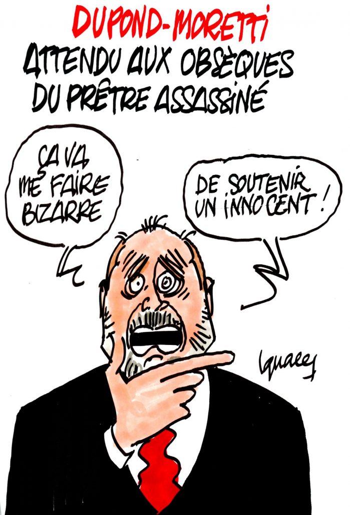 Ignace - Dupond-Moretti aux obsèques du prêtre assassiné